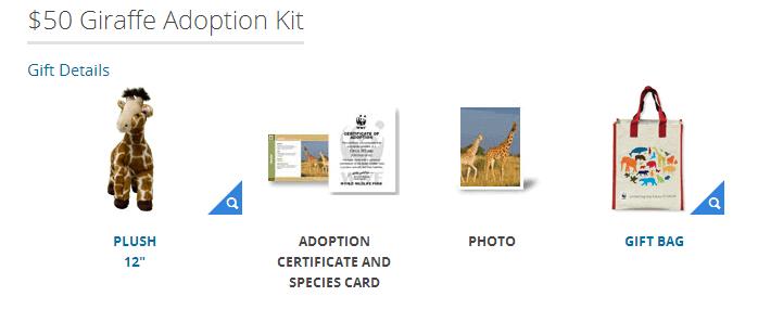 adopt a giraffe at WWF