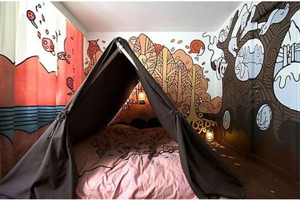 camping kids room